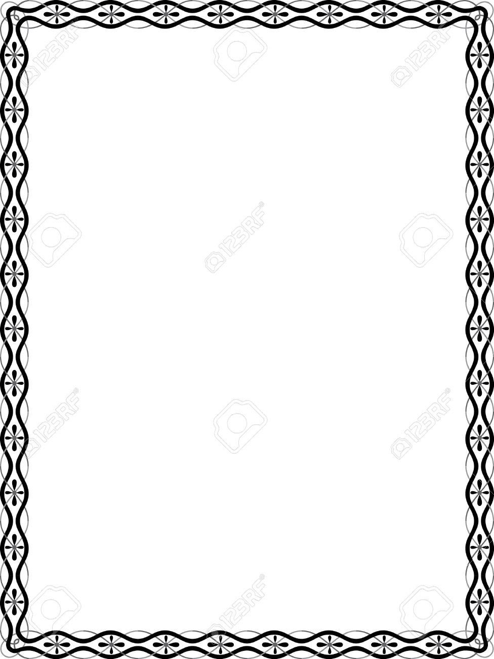 Líneas Simples Marco Vector, Escala De Grises Ilustraciones ...