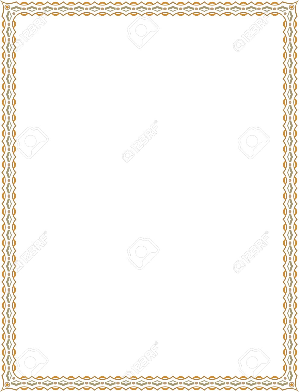 Beau Simple Tiling Thin Frame, Colored Stock Vector   23562945