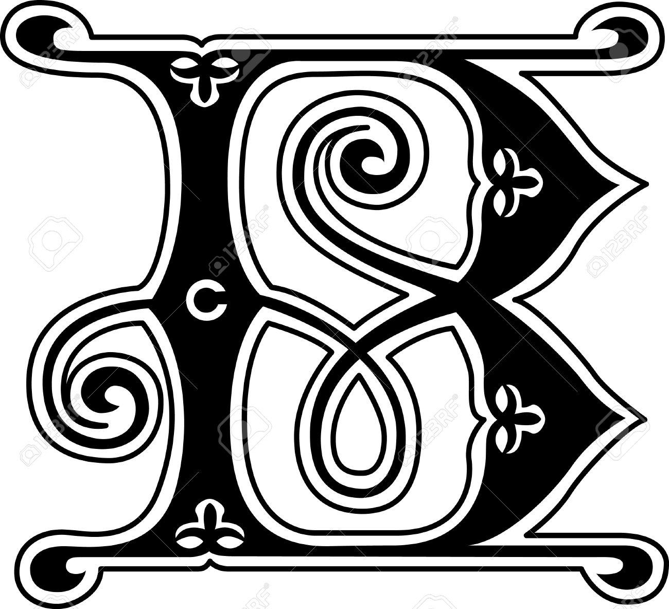 B Alphabet In Style