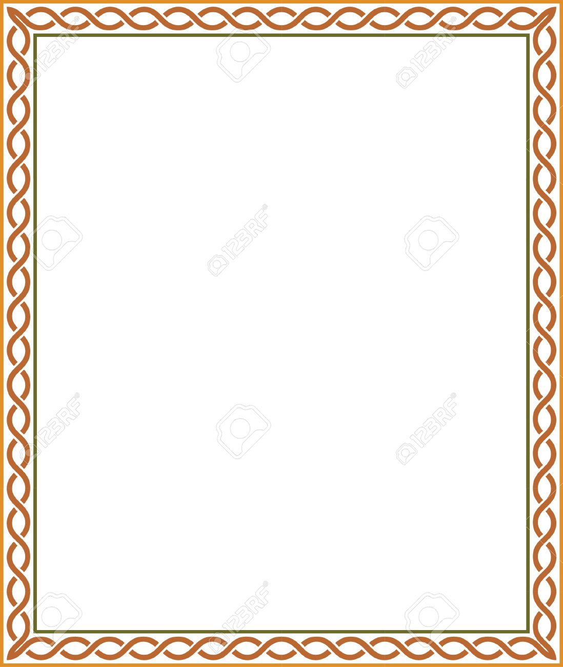 Simple Colorful Border Clip ArtColorfulPrintable Coloring Pages