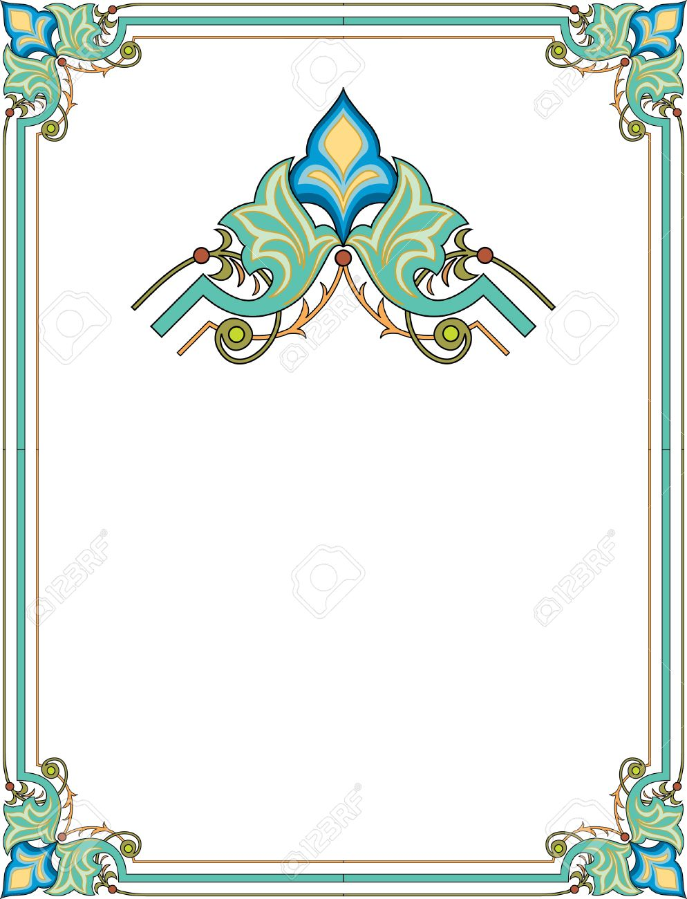 Simple outline frame with corners Stock Vector - 23445804