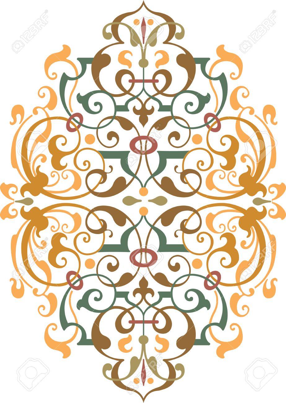 Oriental ornament vector design, Colored Stock Vector - 24003566