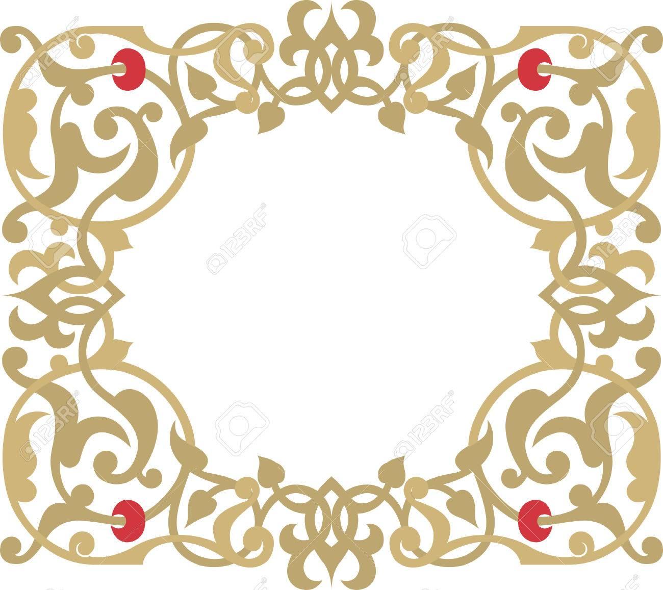 Simple ornamental vector design, Watercolor Stock Vector - 24003729