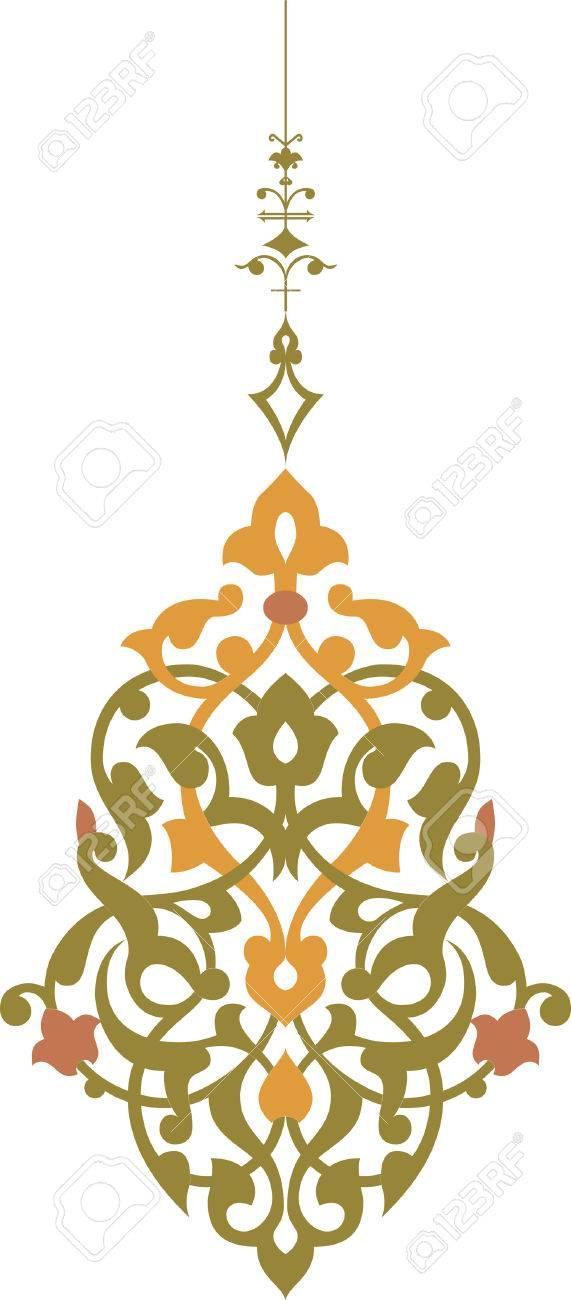Elegant decorative pattern in editable vector file, Watercolor Stock Vector - 24003866