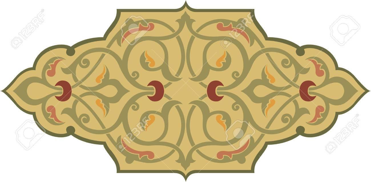 Ornamental seamless pattern in oriental style, Watercolor Stock Vector - 24003884