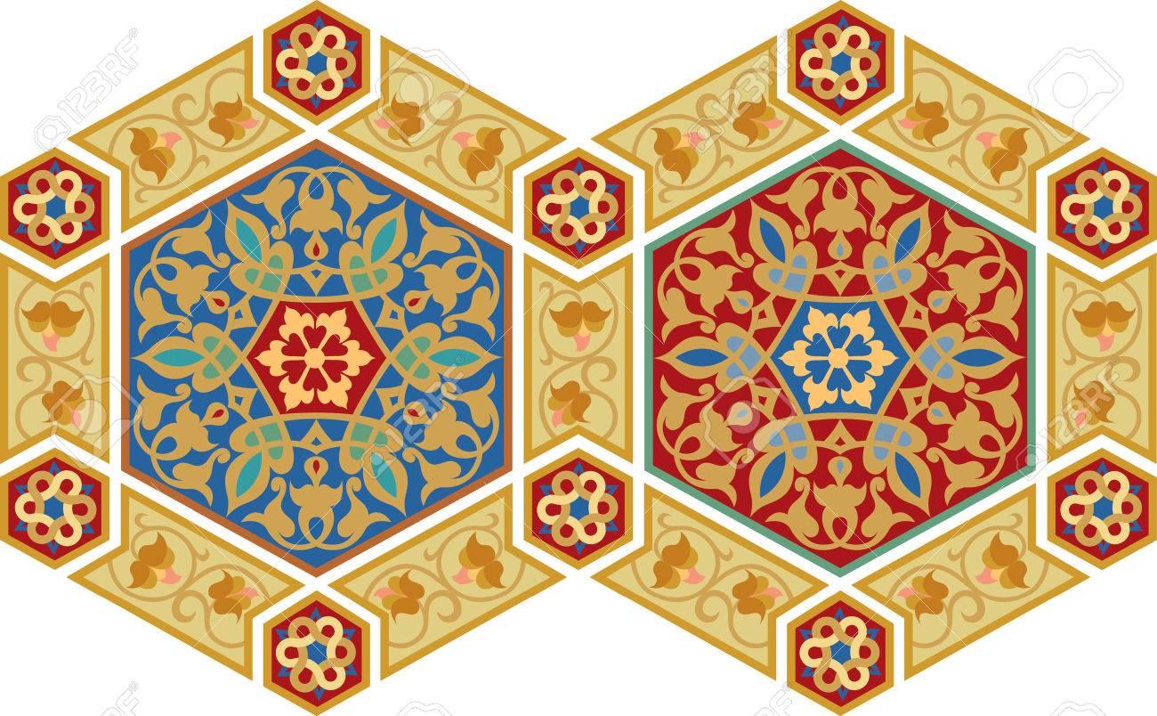 Arabesque design element, vector file, Colored Stock Vector - 24306529
