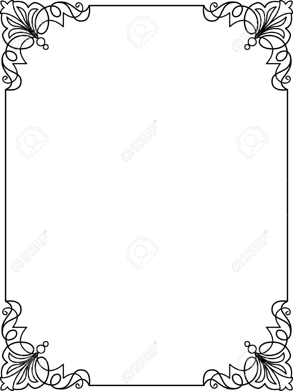 simple frame border design. Simple Lines, Border Frame, Vector Design Stock - 24306545 Frame P
