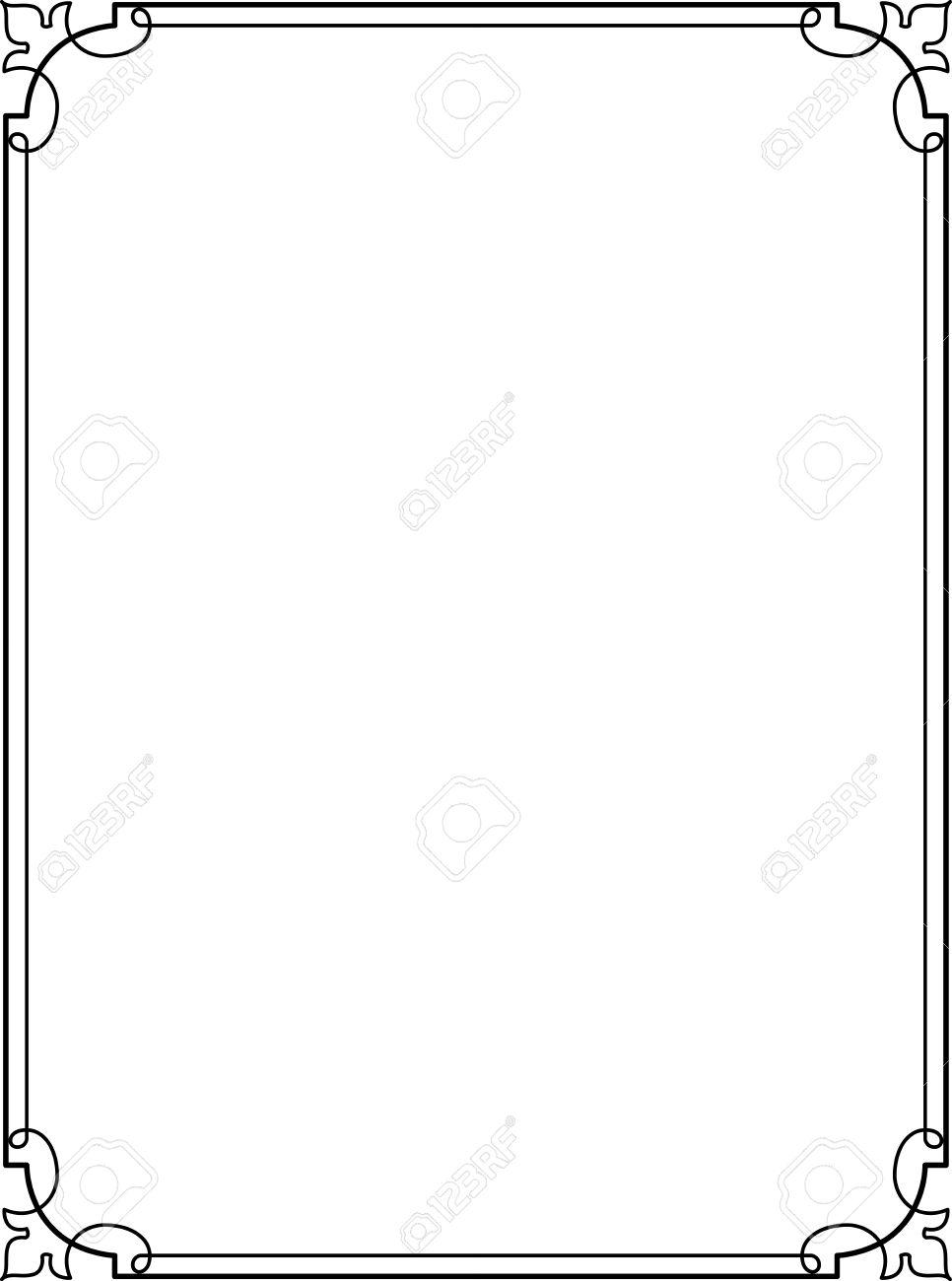 Simple Frame Border Design Lines Vector Stock 24306548 O