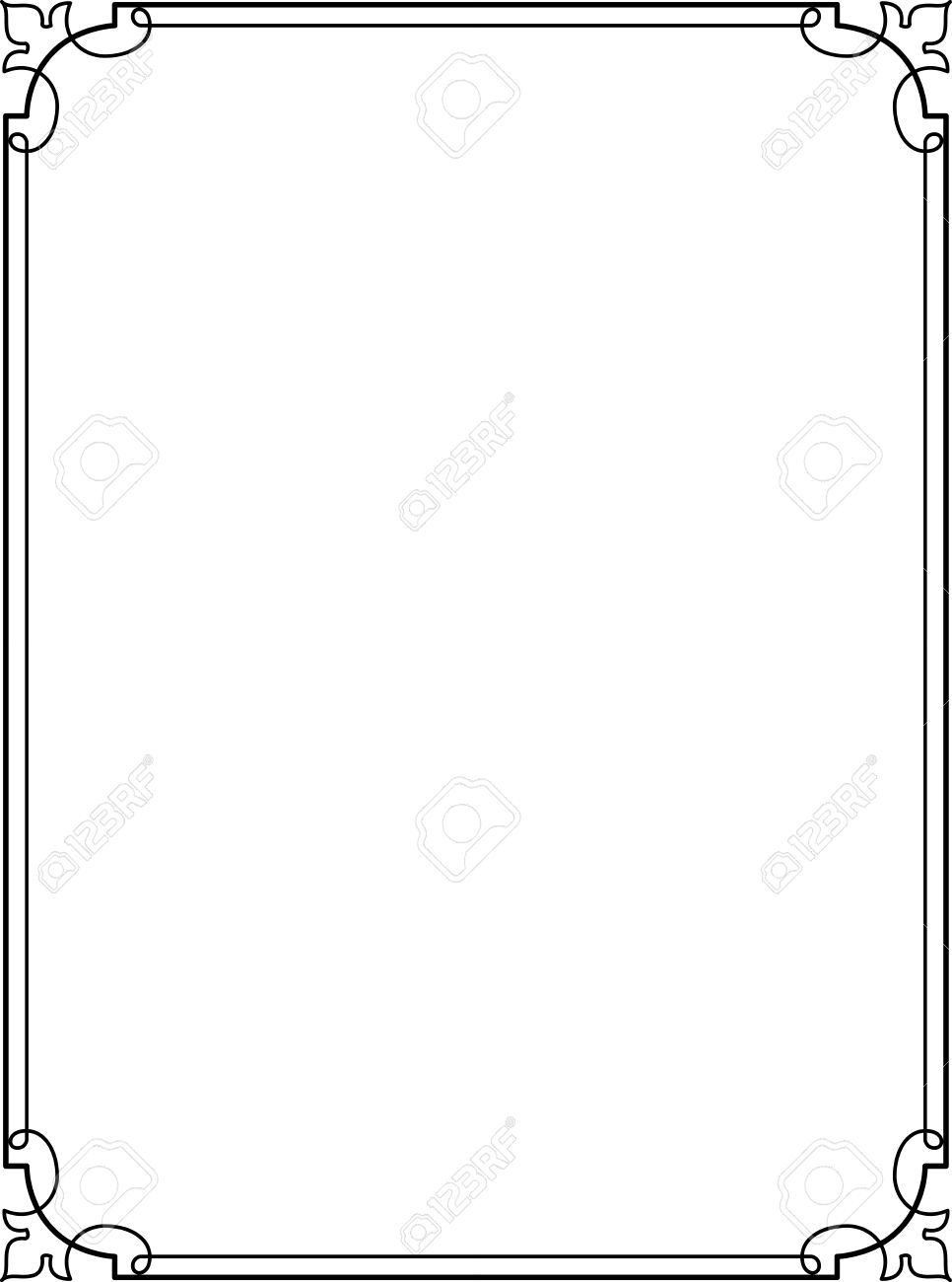 Simple Lines, Border Frame, Vector Design Royalty Free Cliparts ...