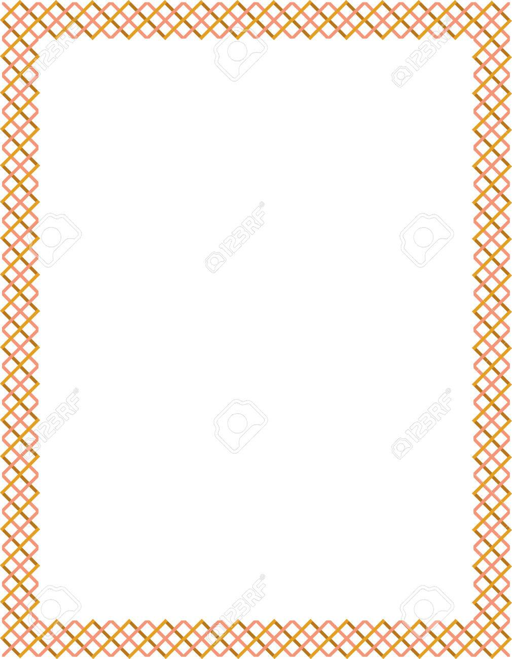 Tiled ornate border frame, Colored Stock Vector - 24306640