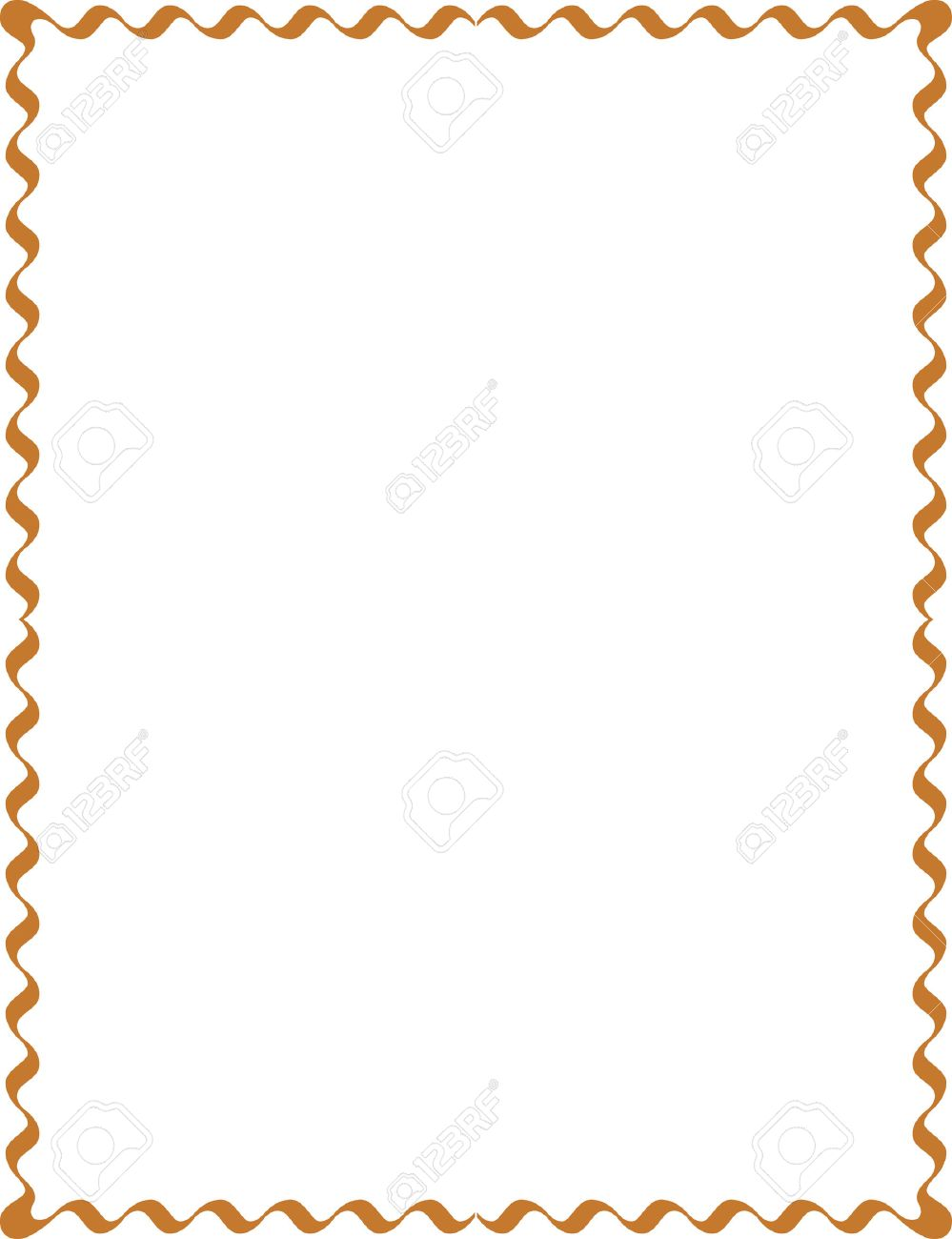 Simple Lines Border Frame Vector Design Colored Stock