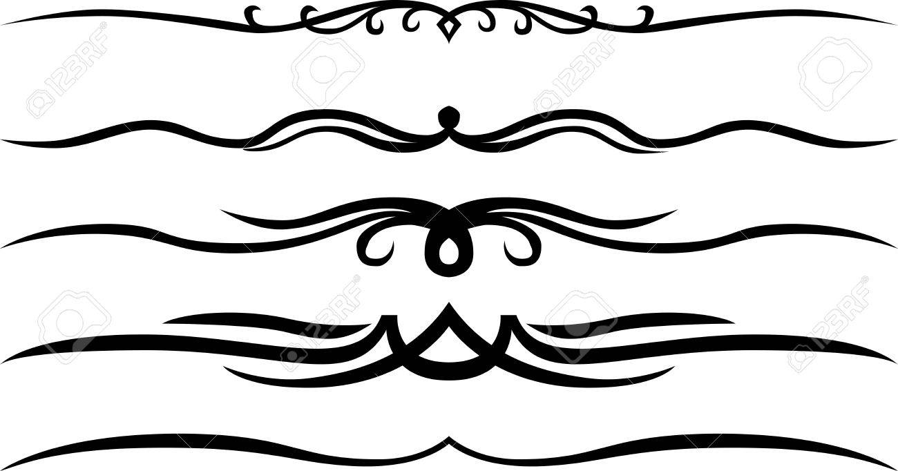 Calligraphic Page Dividers And Decoration Royalty Free Cliparts ...