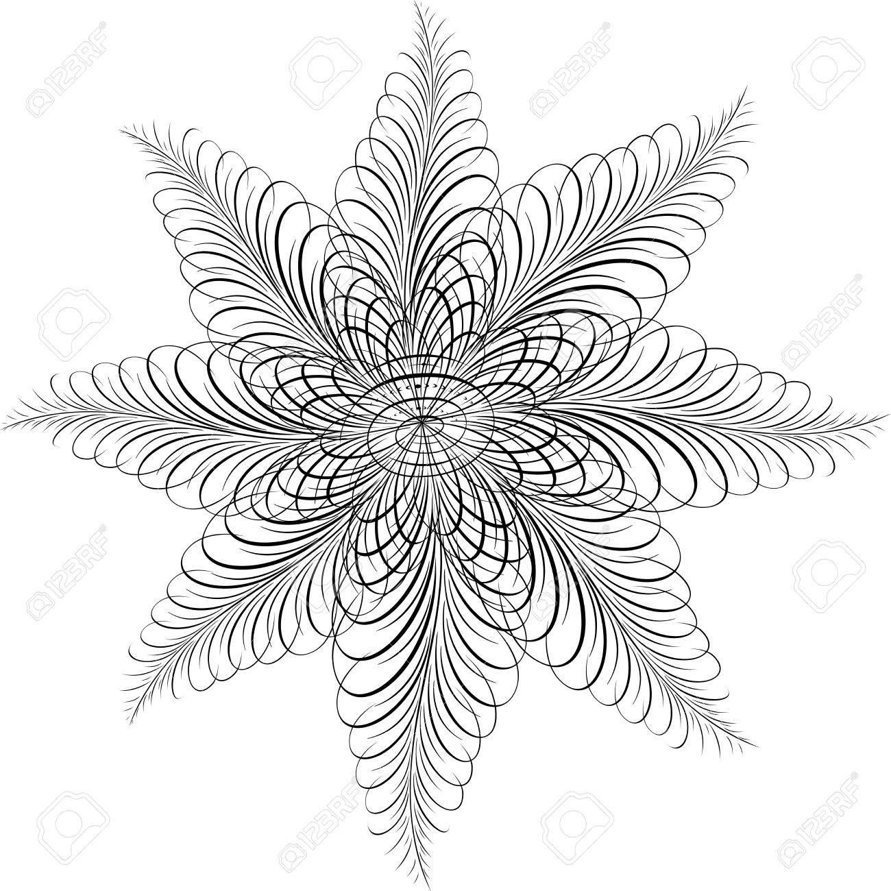 Calligraphic Star, Vector Design Element Stock Vector - 25050184