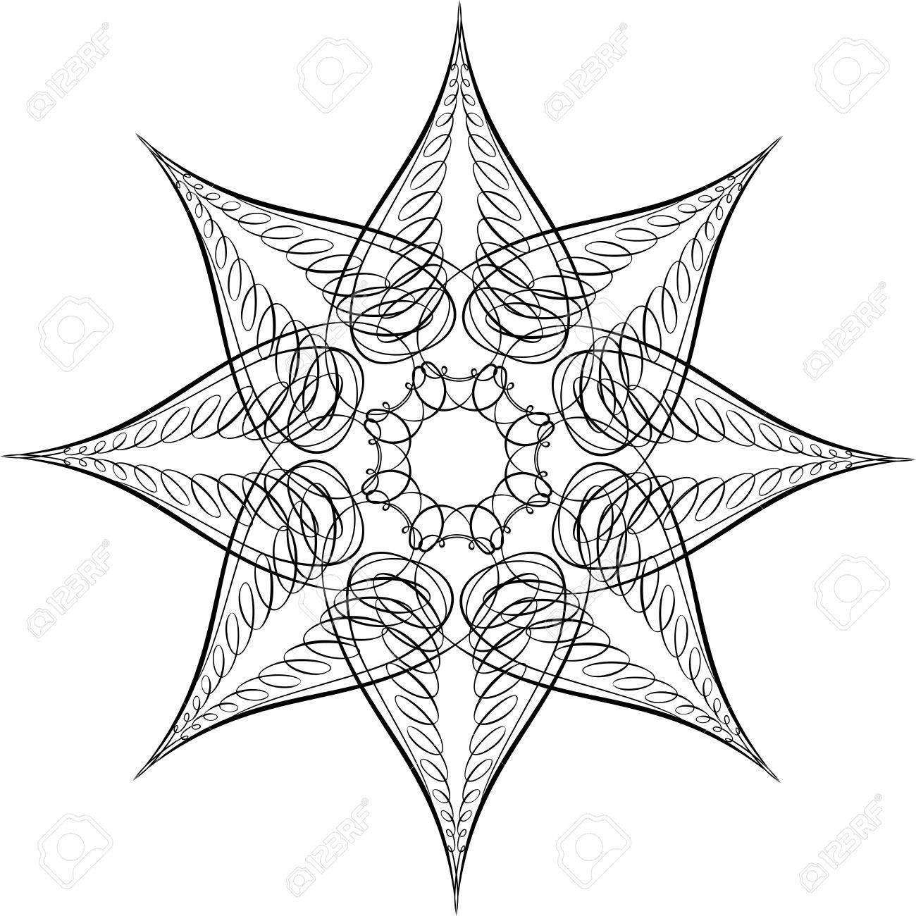 Calligraphic Star, Vector Design Element Stock Vector - 25050190