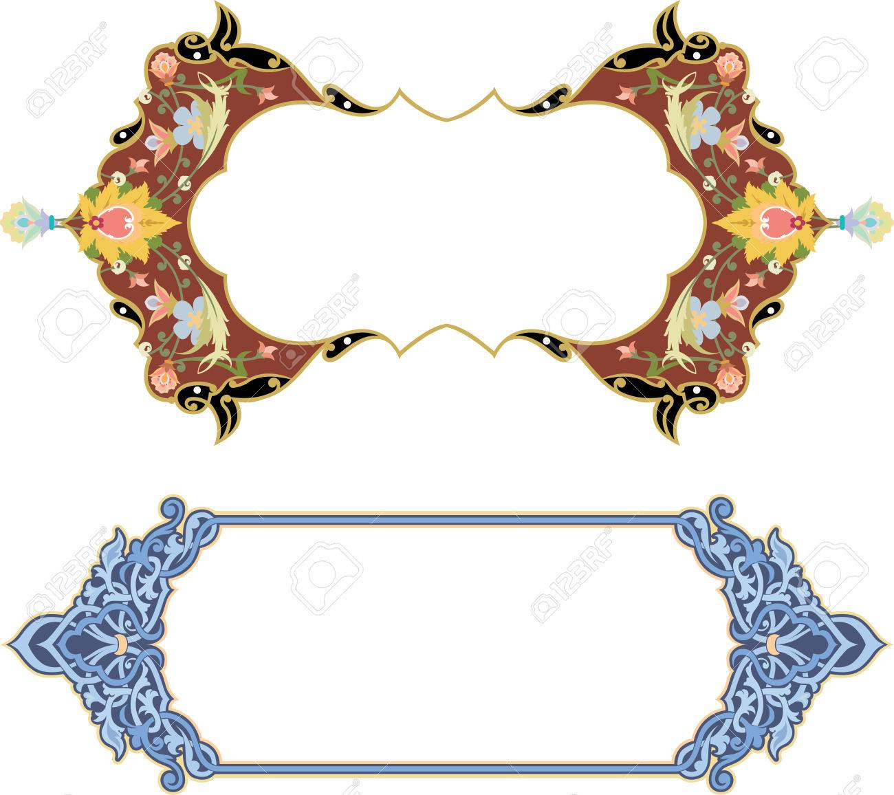 Set of oriental ornate and page decoration Stock Vector - 25382657