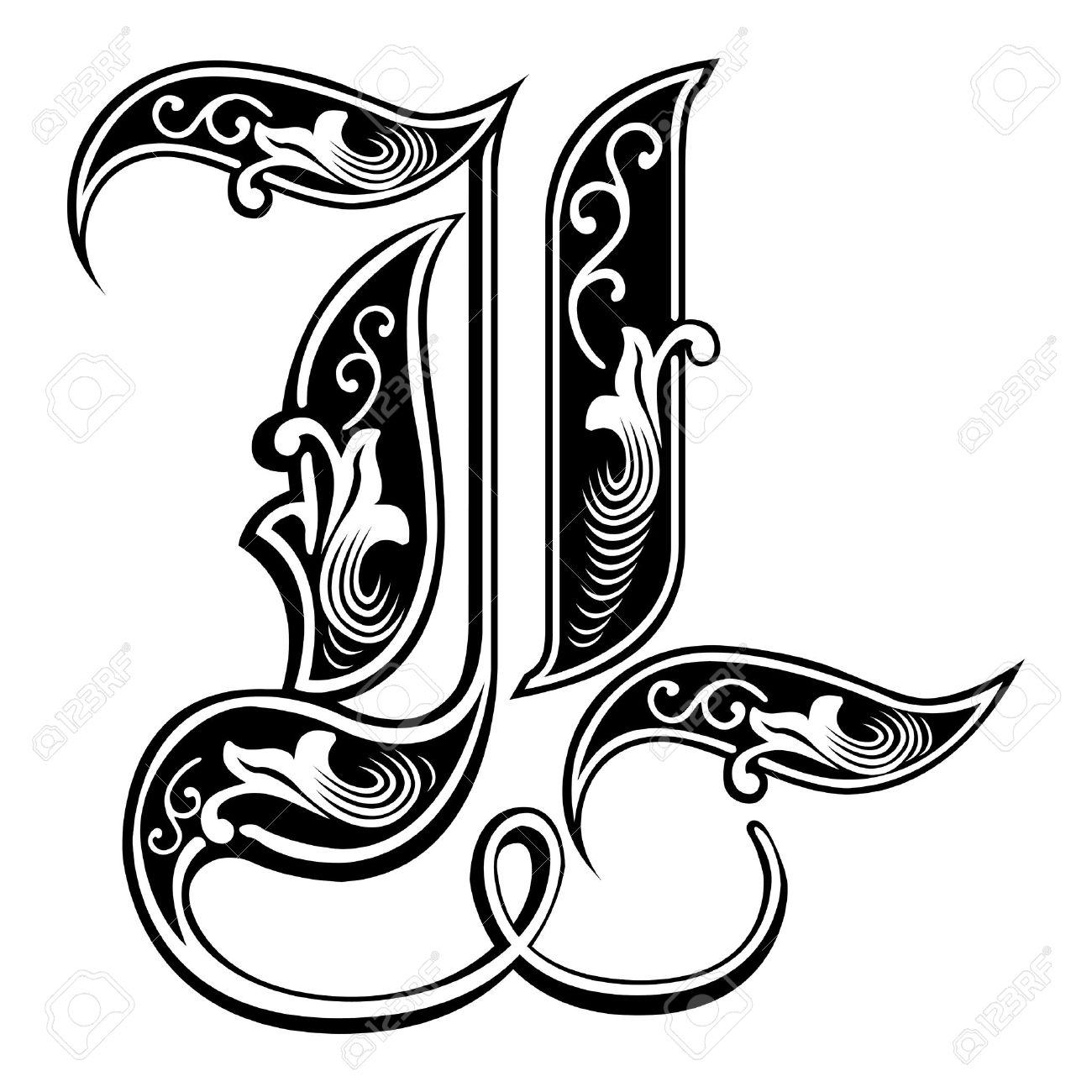 Decorative Letter L Clipart  Alternative Clipart Design