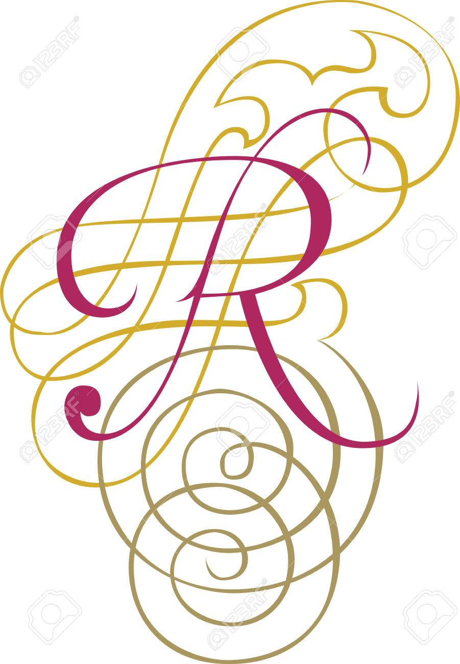 Calligraphic English alphabets fashionable and stylish letter R Stock  Vector 27142917  Calligraphic English Alphabets Fashionable. Stylish Alphabets R