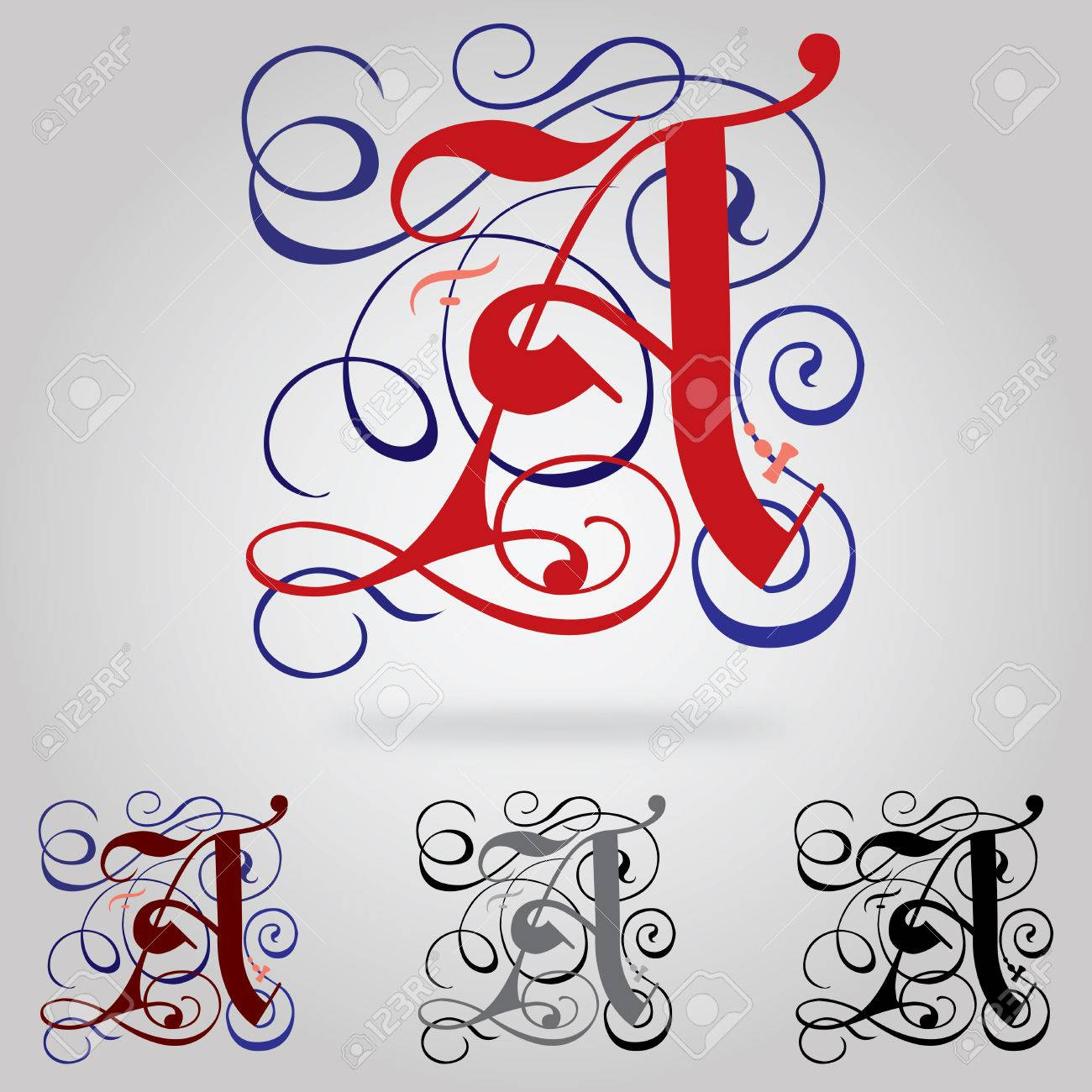 Decorated Uppercase Gothic Font
