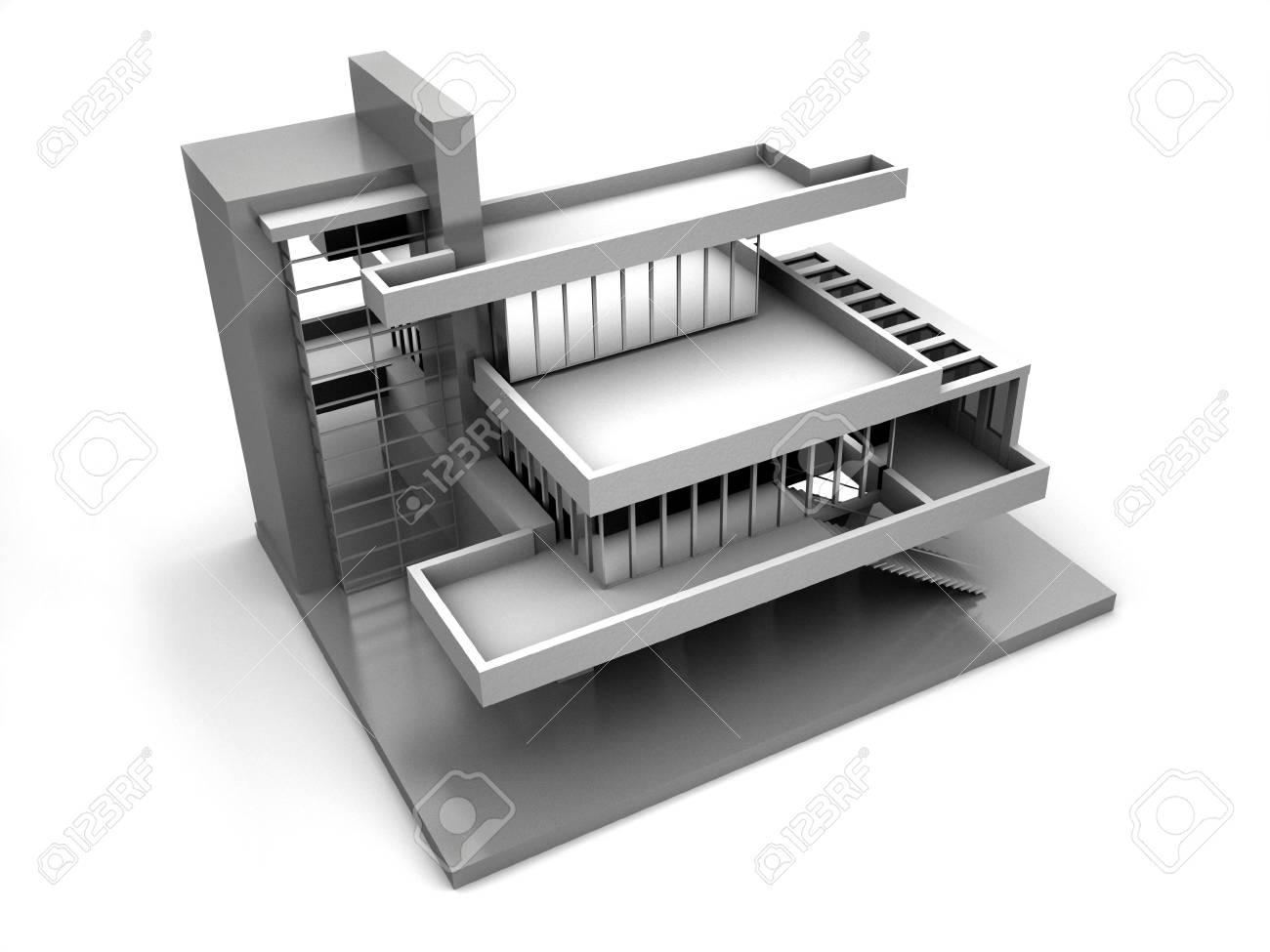 Model of house. 3d Stock Photo - 1747792