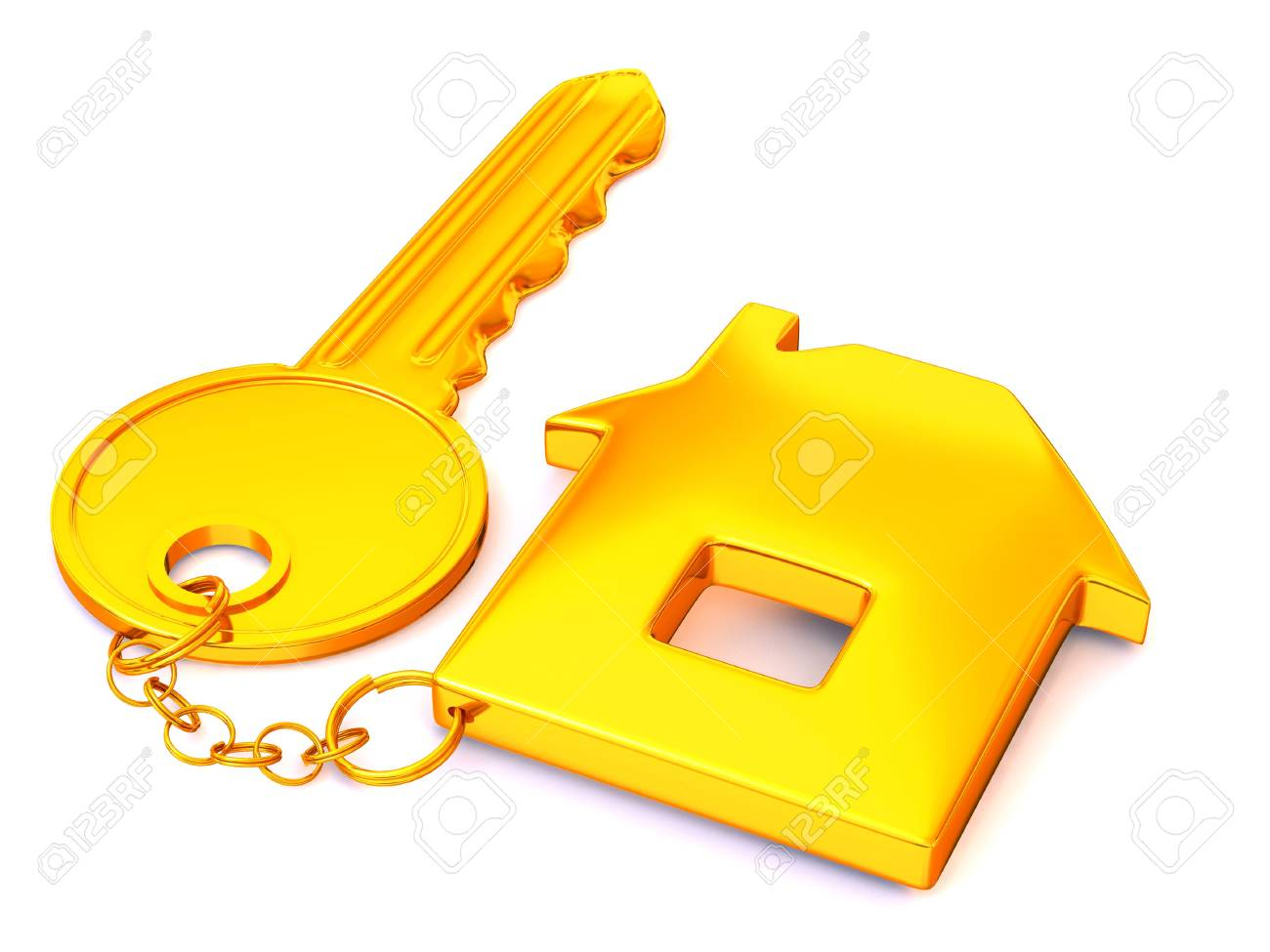 key with trinkets. 3d Stock Photo - 3214849