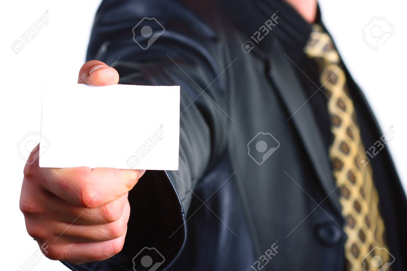 Buisnessmen with message on hand. Stock Photo - 3269053