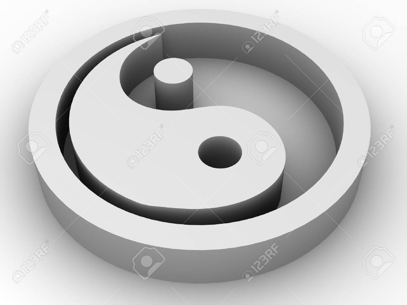 Icon Ying and Yang. 3d Stock Photo - 3345591
