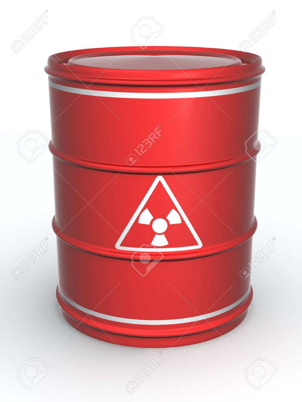 Barrel with sign Radiation. 3d Stock Photo - 4966407