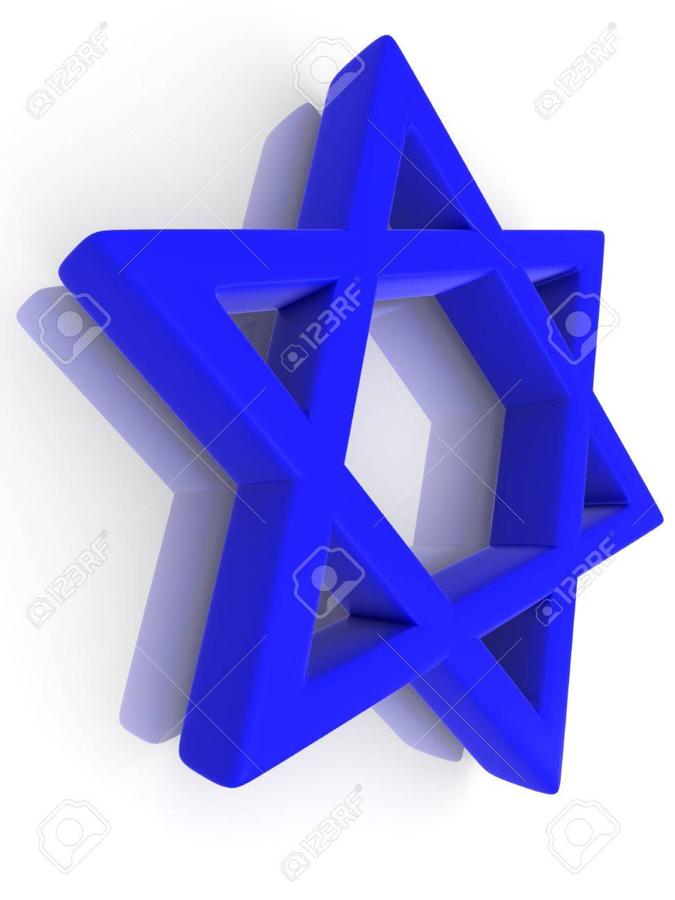 Symbol of Israel. 3d Stock Photo - 5372926