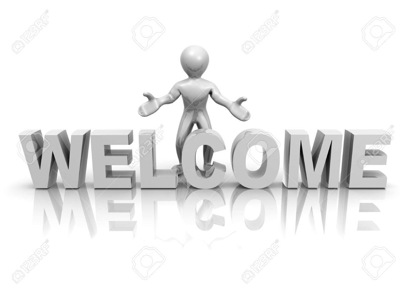 Men with text welcome 3d stock photo picture and royalty free men with text welcome 3d stock photo 5654805 buycottarizona Gallery