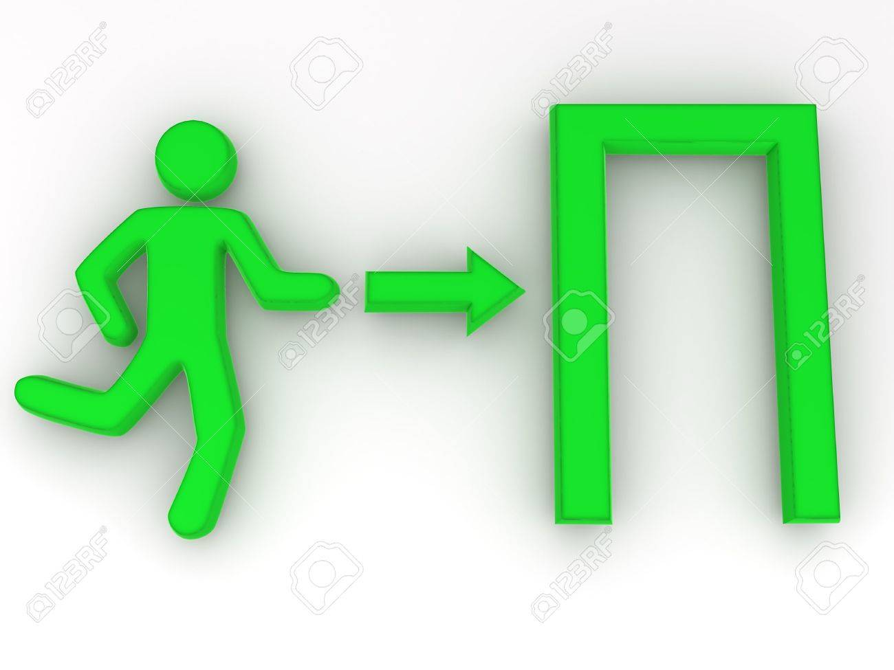 Sign exit. 3d Stock Photo - 5804286