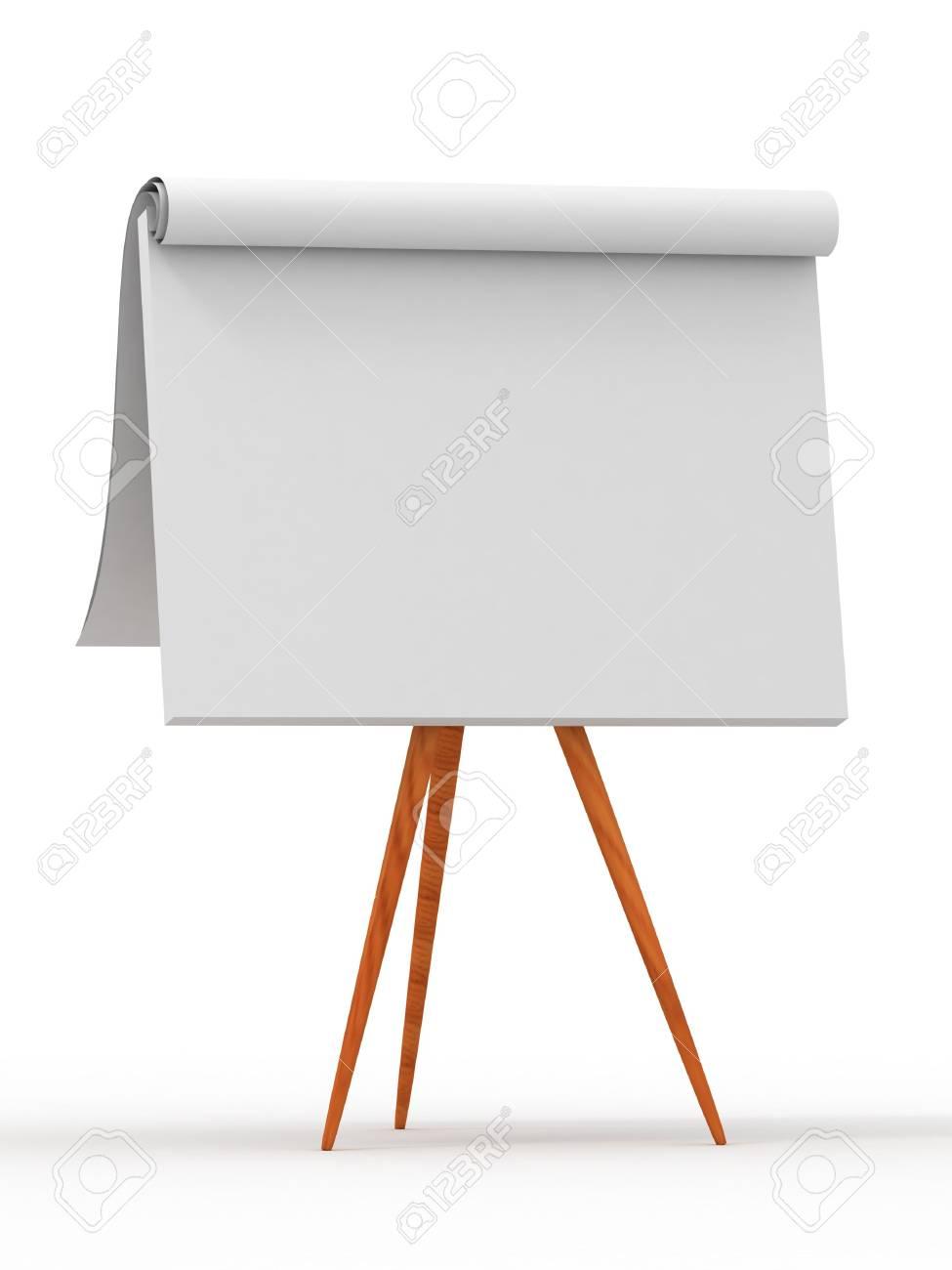Empty board. 3d Stock Photo - 6421975