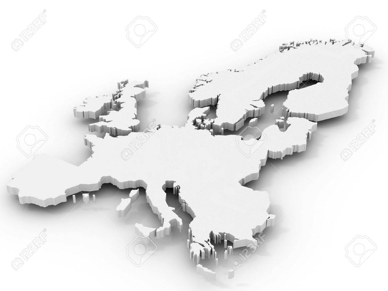 Map of  Europe. 3d Stock Photo - 6487553