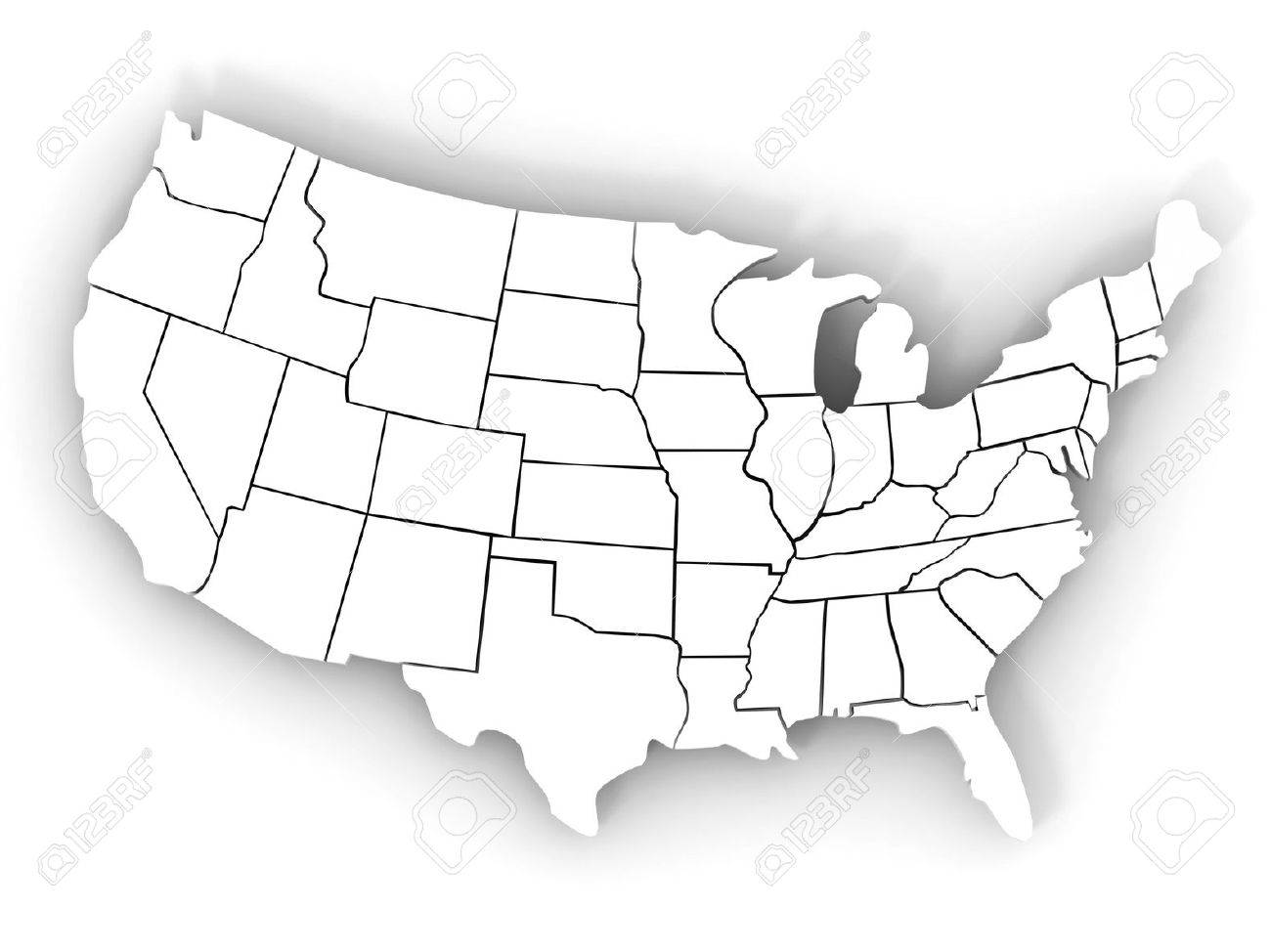 Map Of USA D Stock Photo Picture And Royalty Free Image Image - 3d us map