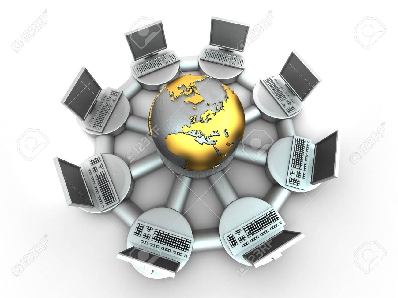 Conceptual image of internet. 3d Stock Photo - 7503706