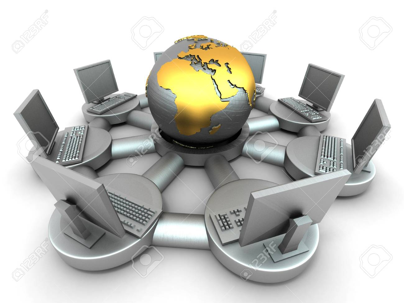 Conceptual image of internet. 3d Stock Photo - 7542590