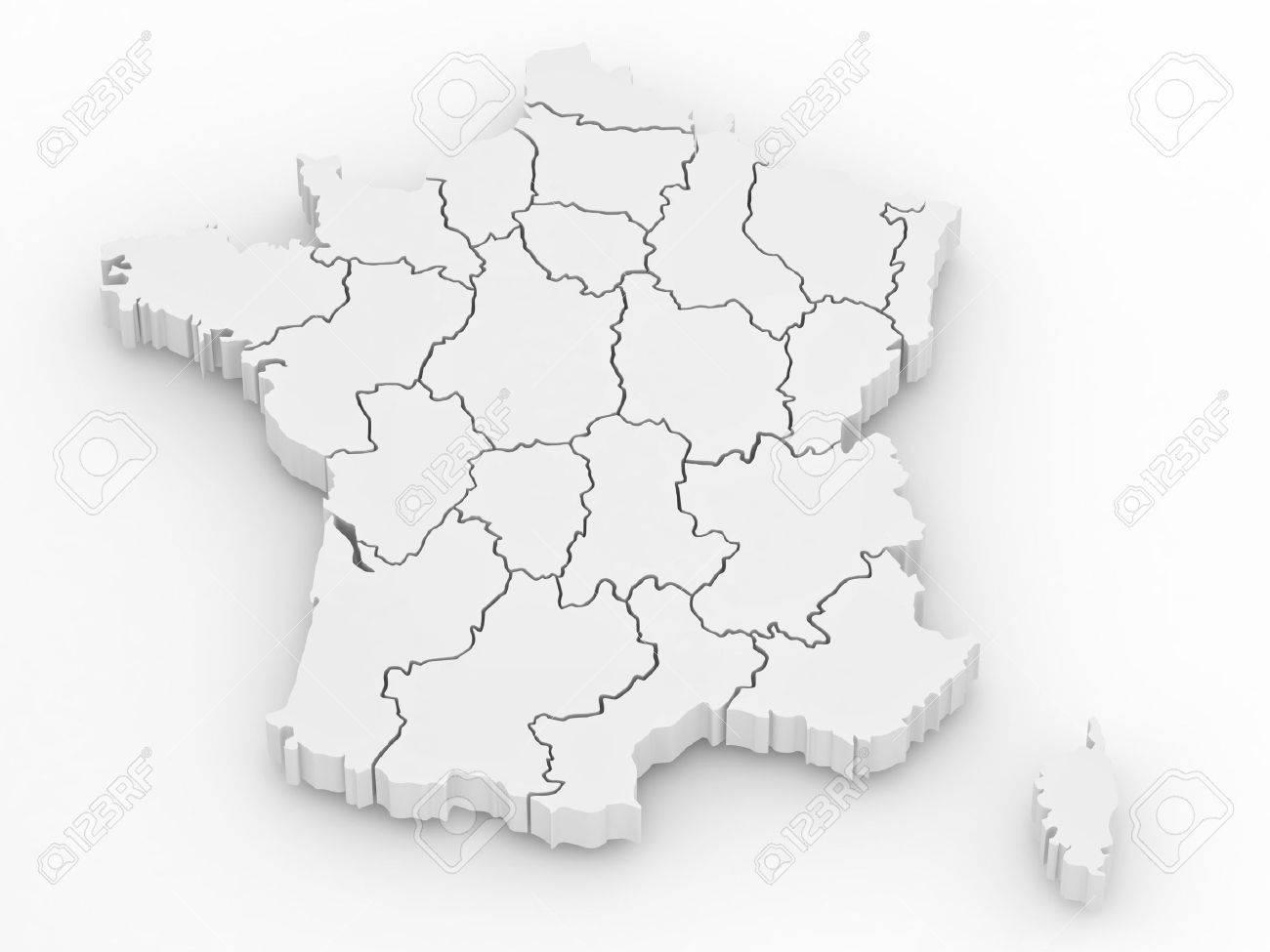 carte de france 3d