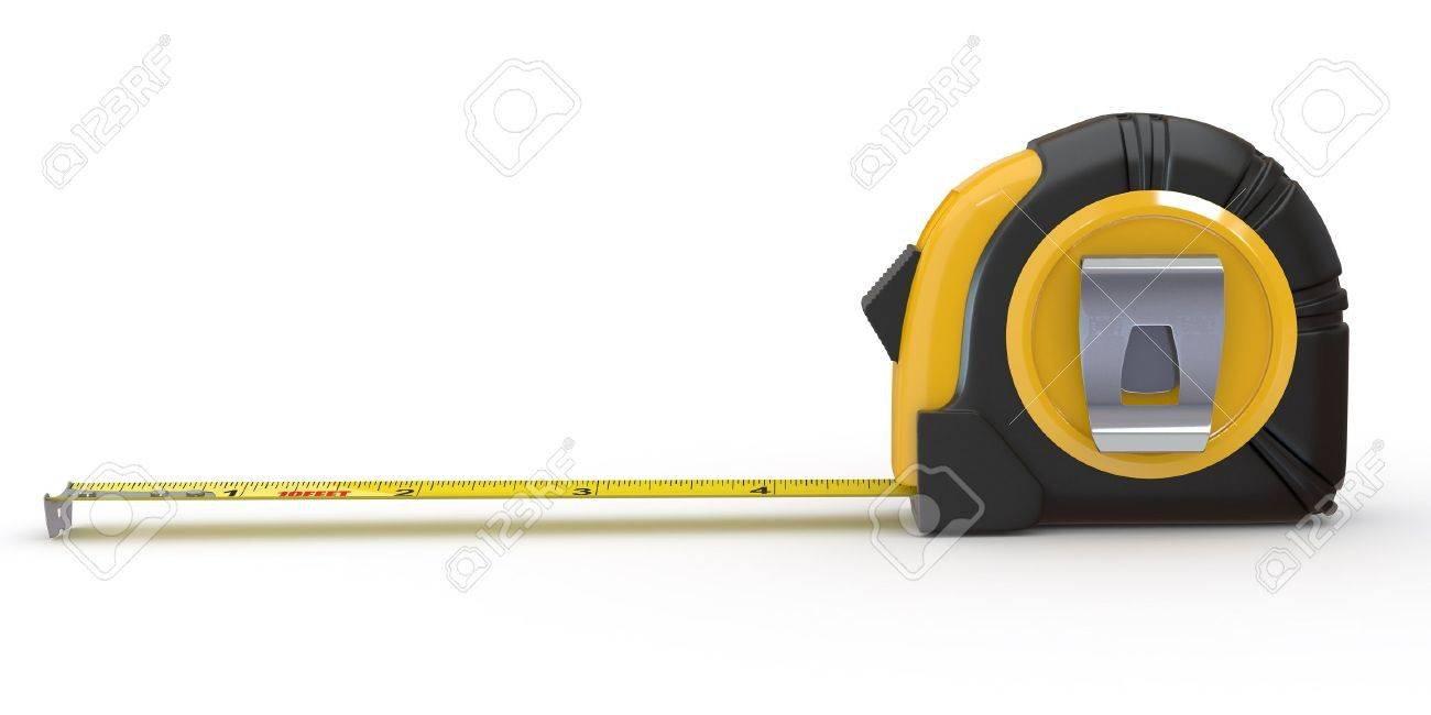 Tools. Measure tape on white background. 3d Stock Photo - 11510923