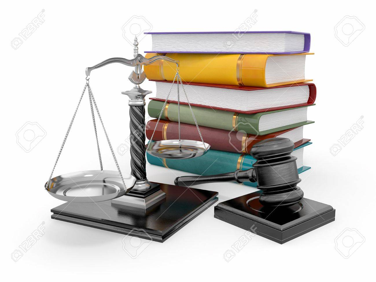 Justice concept. Law, scale and gavel. 3d Stock Photo - 12926612