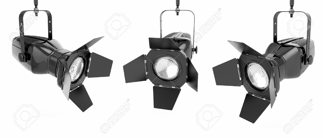 Spotlight Or Stage Light On White Isolated Background 3d Stock Photo    14050668