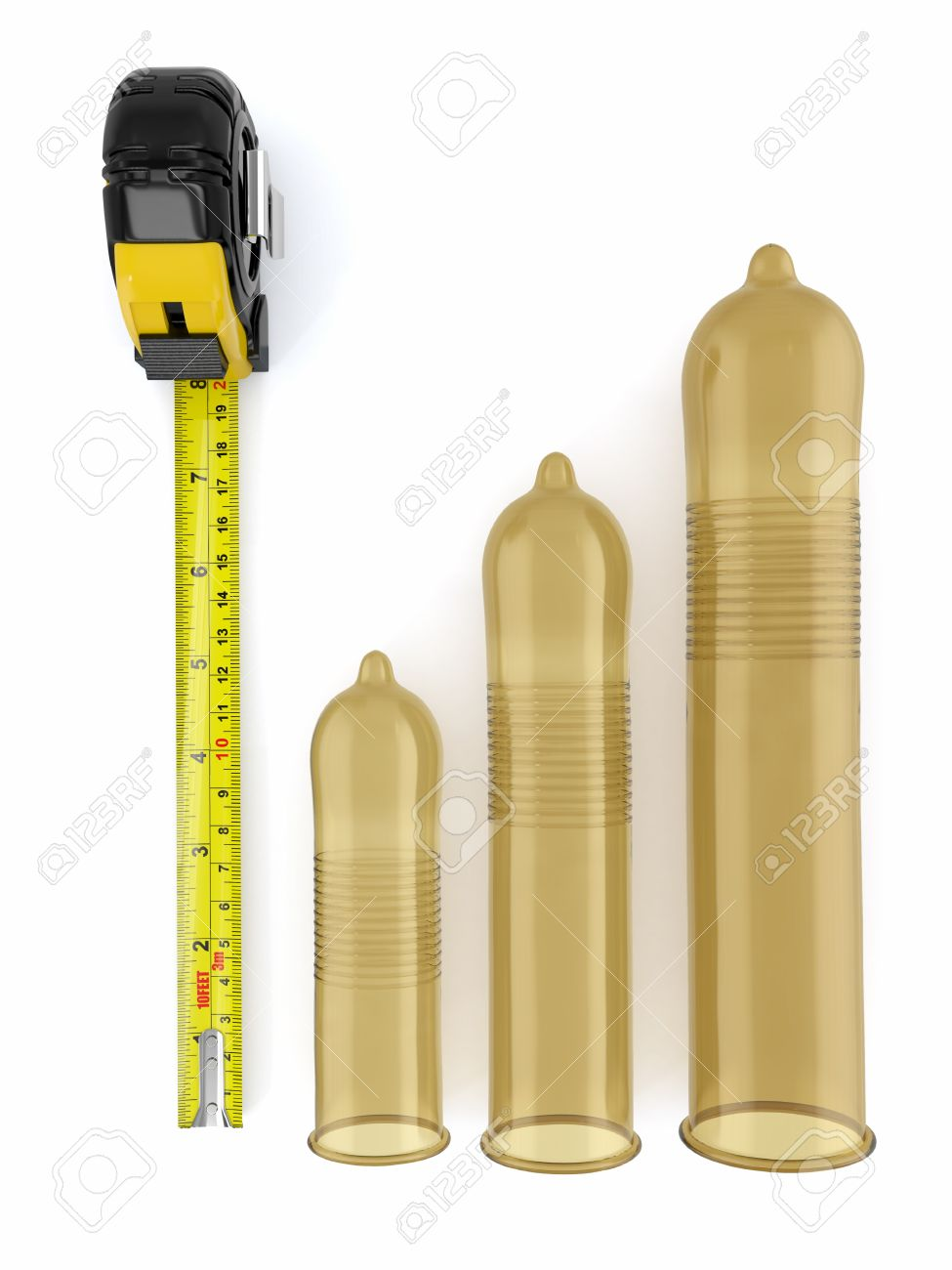 Photo of different penis size