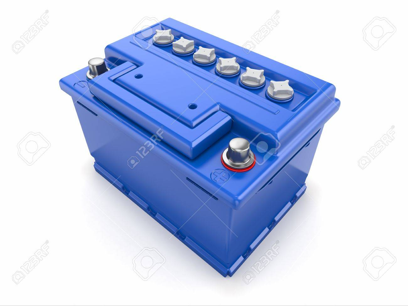 Car battery on white background  Three-dimensional image Stock Photo - 15649688
