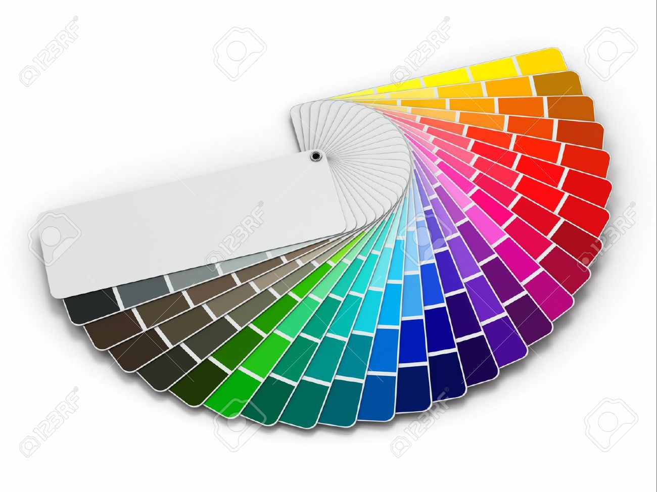 Book color palette - Color Printing Guide Color Palette Guide On White Background 3d Stock Photo 18514978
