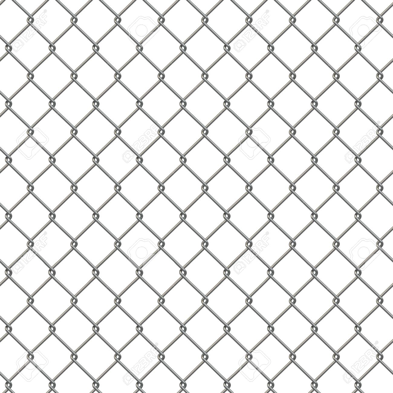 Tiling Texture Of Barbed Wire Fence. 3d Stock Photo, Picture And ...