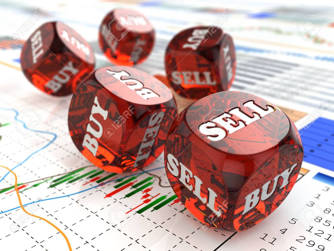 Stock Photo Stock Market Concept Dice On Financial Graph 3d Tradeking  Account Review