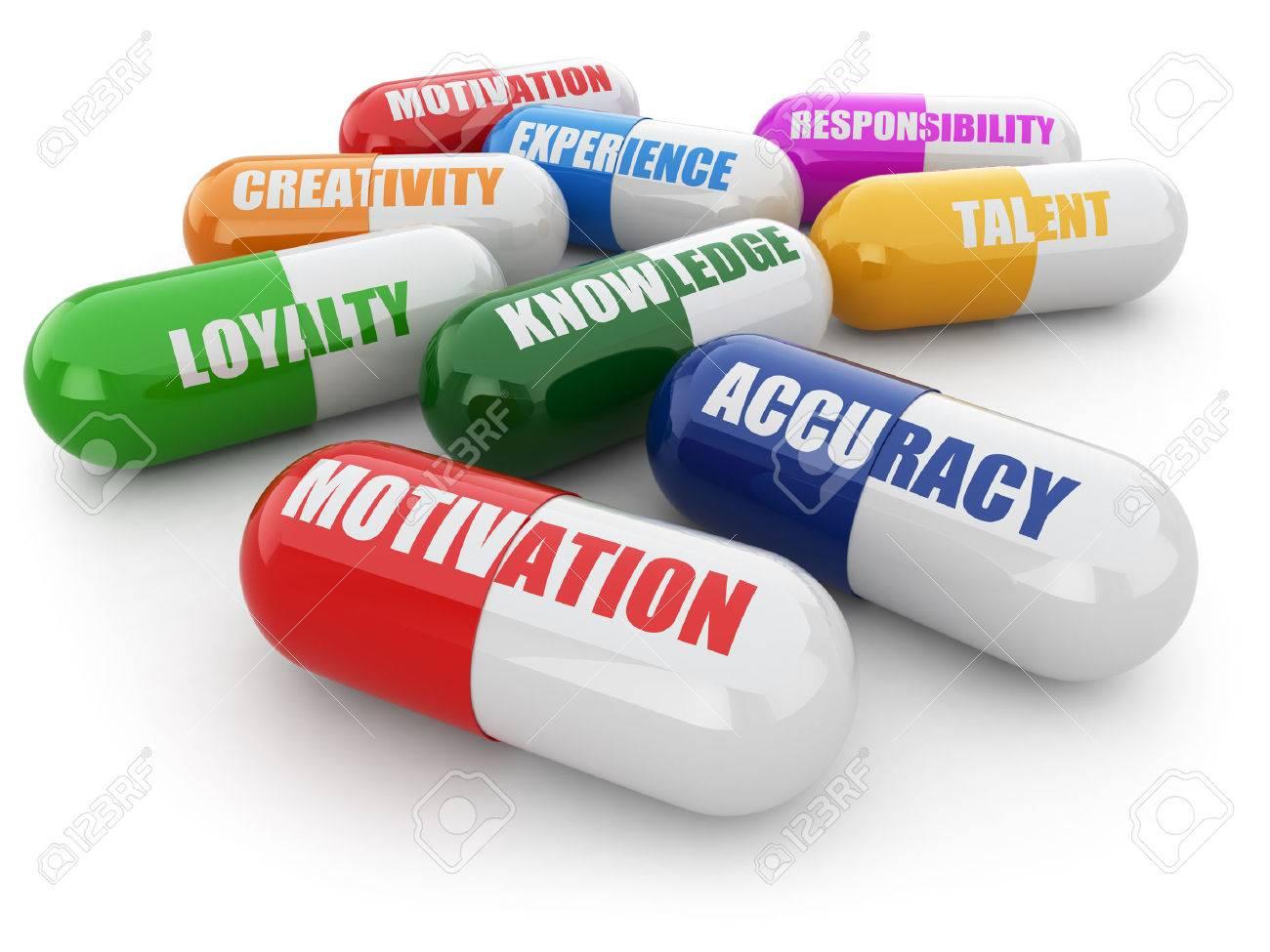 skills for success pills a list of positive qualities for skills for success pills a list of positive qualities for employment 3d stock