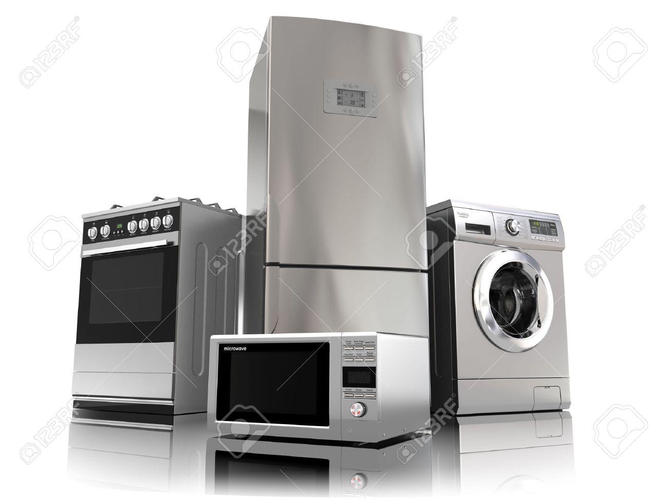 elettrodomestici. set di tecniche di cucina per la casa isolata su ... - Cucina Elettrodomestici