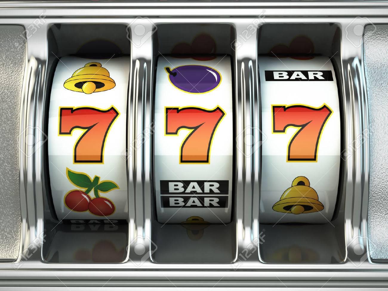 Slot machine with jackpot. Casino concept. 3d - 50983595