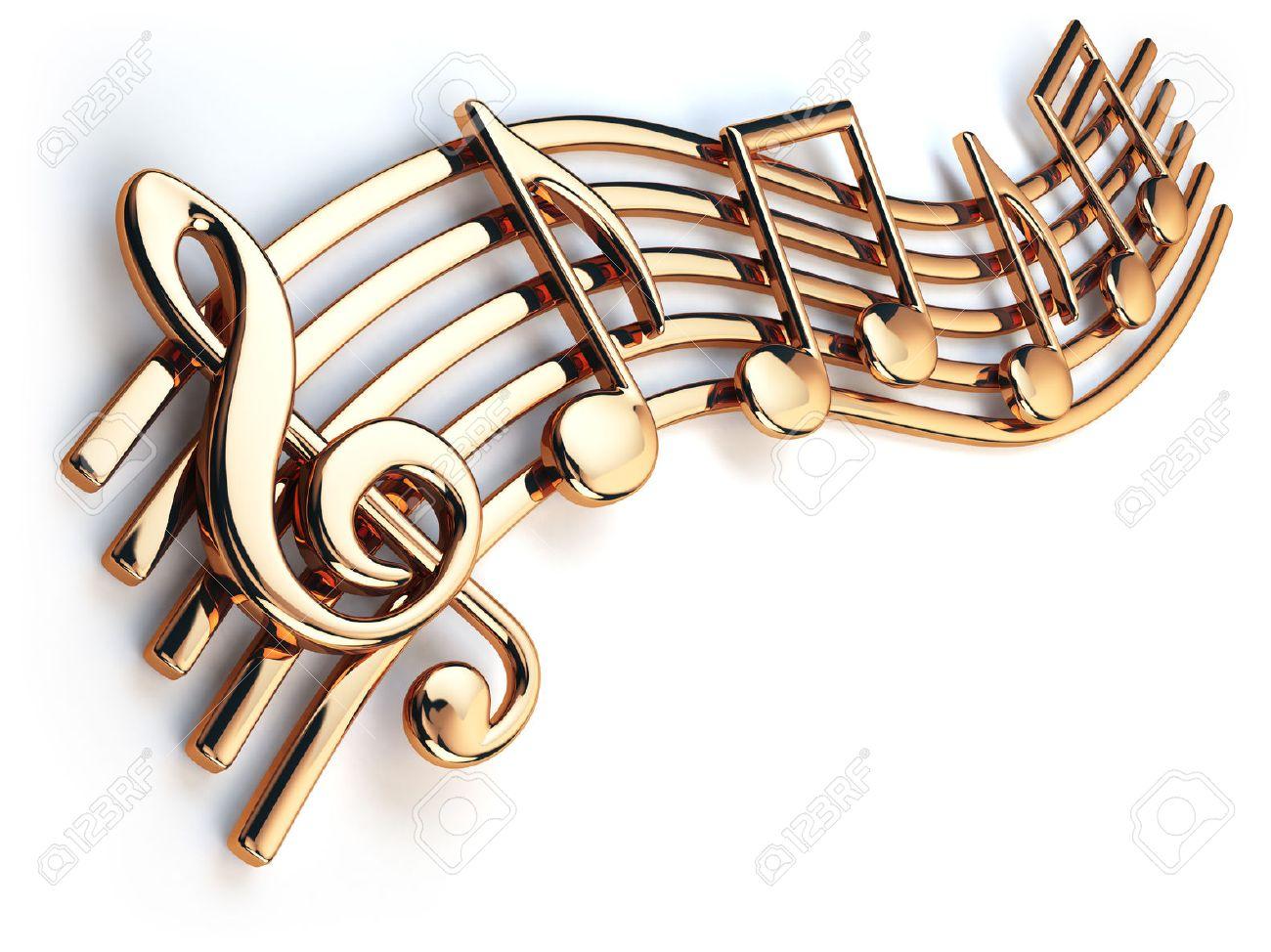 Resultado de imagem para notas musicais douradas sol