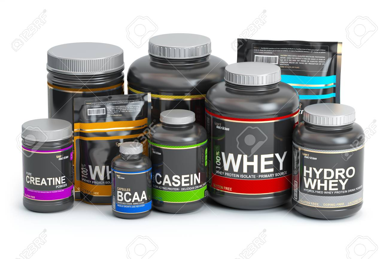 Sports Nutrition Supplements For Bodybuilding Whey Protein Stock Photo Picture And Royalty Free Image Image 109806793