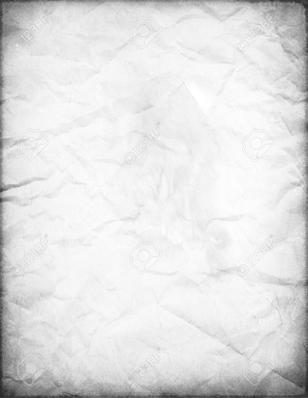 Old White Paper (Retro Effect On Pictures) Stock Photo, Picture ...